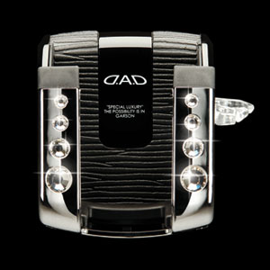 D.A.D Luxury Cell Phone Holder Chrome: Crystal