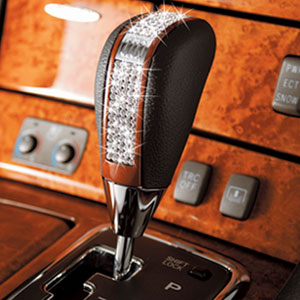Luxury Crystal Shift Knob T-Glitter: Wood/Crystal